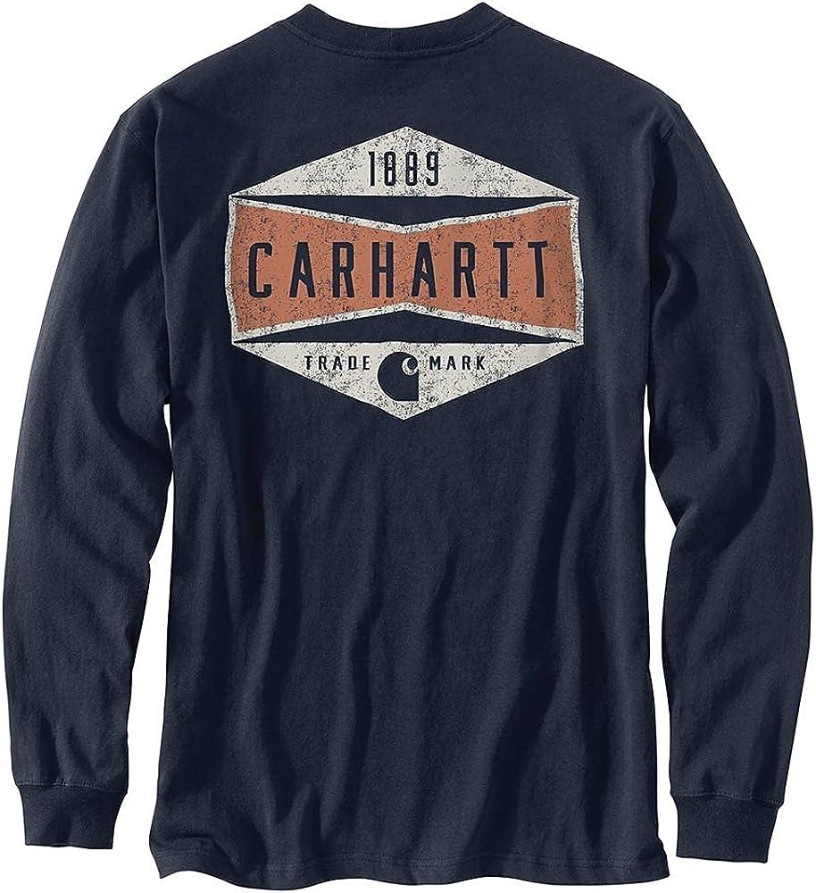 Carhartt Men's 104893 Relaxed Fit Heavyweight Sleeve Logo Graphic T-Shirt - XXX-Large