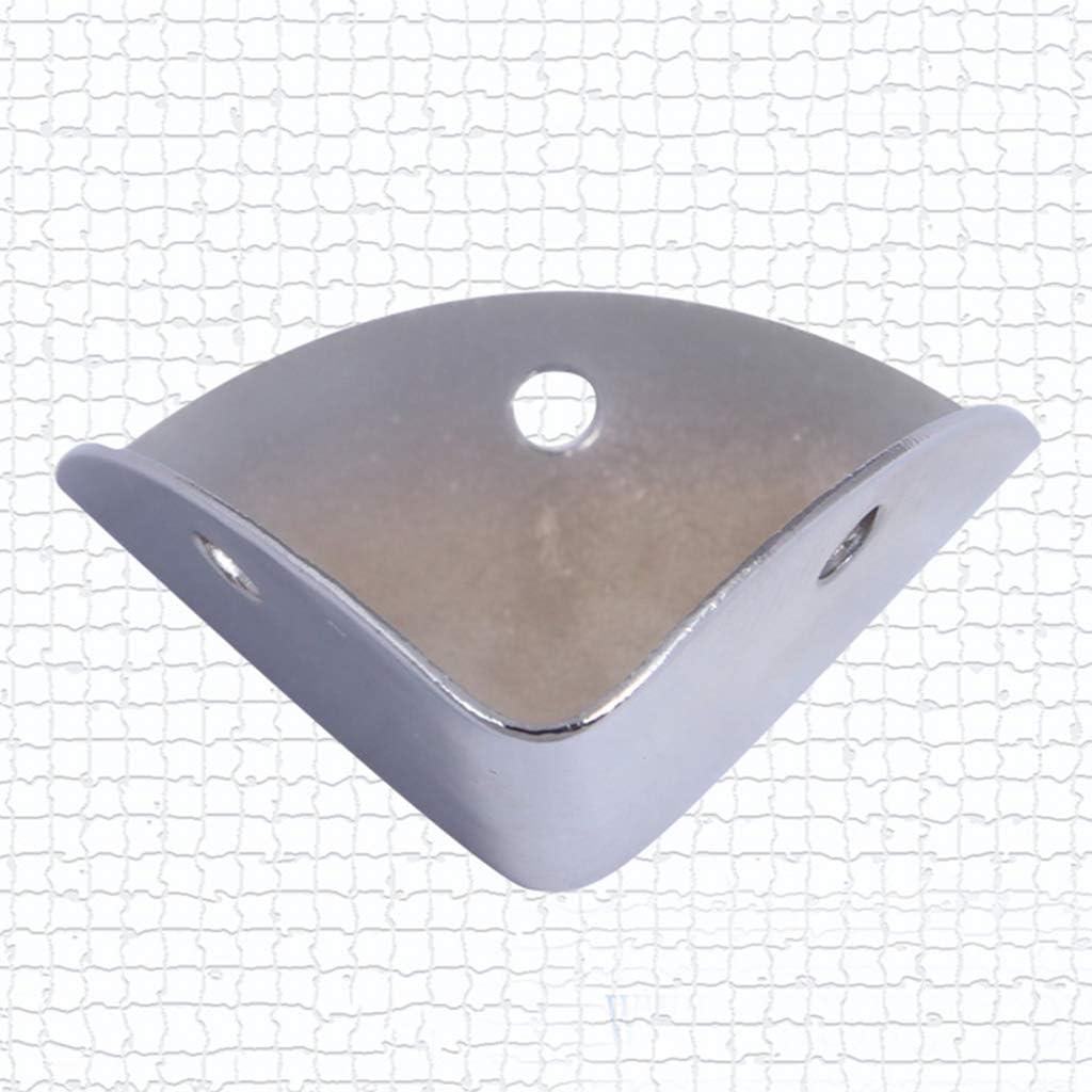 NWM 8 Pcs Metal Box Corner Protector Decorative Corner For Speaker Wooden Box Air Box Audio Fixed Hardware Accessories Color:Silver