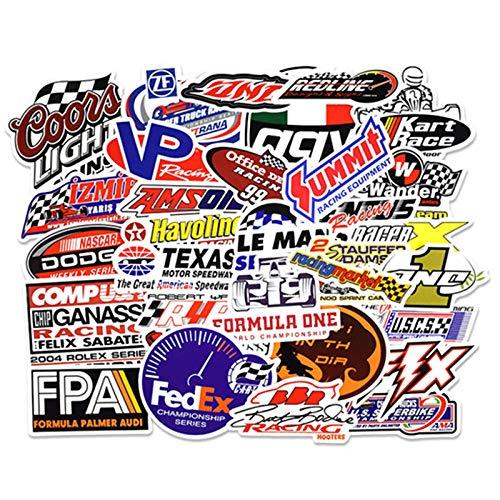 YRBB 50 stuks stickers voor auto racesport graffiti-wijziging auto DIY sticker waterdicht voor motorfiets helm motor koffer laptop