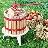 Juskys Mechanische Saftpresse Juicy 12 Liter mit Presstuch | Holz | manuell | Obst, Beeren & Früchte | Obstpresse Fruchtpresse Beerenpresse Entsafter