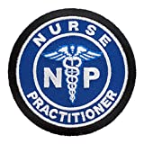 Nurse Practitioner Medical Symbol Blue Patch, Medical Patches