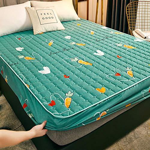 XGguo Sábana Ajustable súper Suave, cálida y acogedora Una Sola Pieza de sábana Impermeable y a Prueba de Polvo -3_180cmx220cm