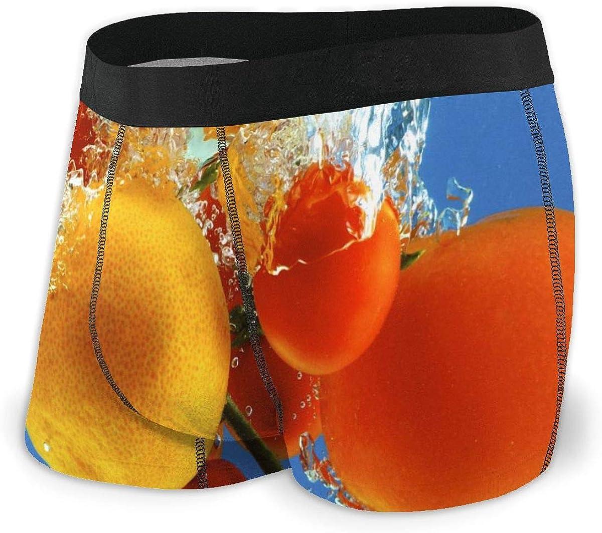 Mens Boxer Briefs Fruit in Water Vector Breathable Underwear