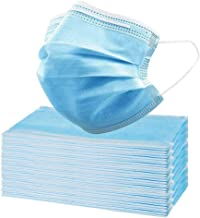 50 Pcs Disposable Face Mask, 3 Layer Mask Anti Dust Breathable Mouth Cover with Earloop