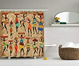 Nyngei Afro deHistoria afroamericana de artede Afrocentric Artwork Mujeres en Vestidos Tribales Llevar Agua Juegode de con Gratis Camel Red Brown