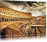 Colloseum in Rom von innen Format: 120x80 auf Leinwand, XXL