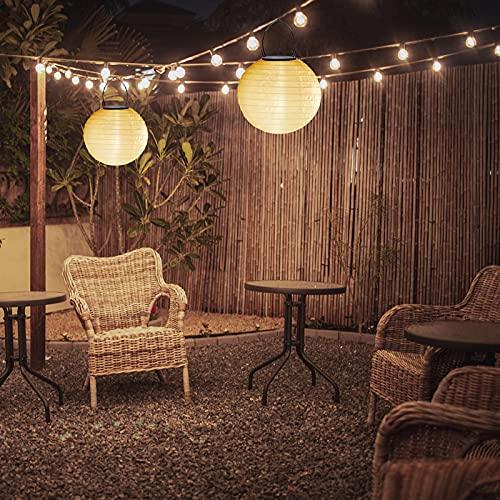 1-4 Stücke Solar LED Lampion Party Garten Laterne, Ballform Lampenschirm, Wasserdicht Hängende Garten Laterne, Solarlaterne, Solar Lichter, Solar Lampion, für Hochtzeit Kirche Party Dekoration