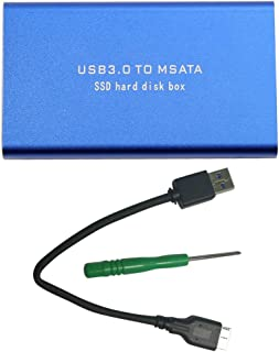 Qianqian56 ny USB 3.0 till MSATA SSD-adapterkort extern kapslingsfodral täckbox + verktyg