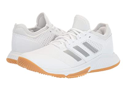 adidas Court Team Bounce (Footwear White/Silver Metallic/Footwear White) Women