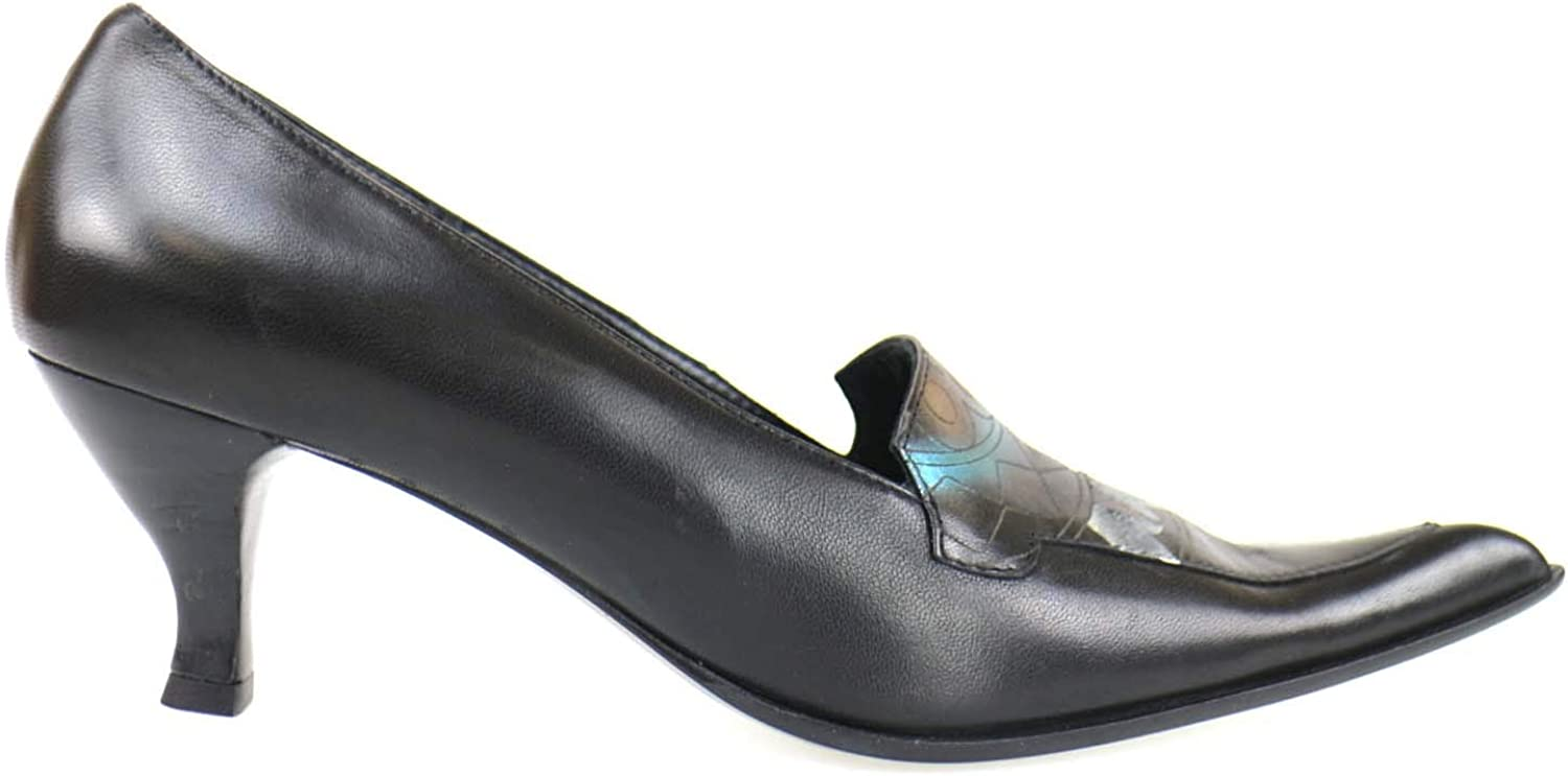 IL GRECO Pumps-shoes Womens Leather Black 10 US
