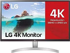 "LG 27UL500-W - Monitor de 27"" UHD (3840x2160, IPS, 16:9, HDMI x1, DisplayPort x1, USB, 5ms, 60Hz, inclinación ajustable, a..."
