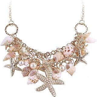 Yellow Chimes Starfish & Shells Fashion Gold-Plated Choker Necklace for Women
