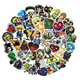 47PCS The Legend of Zelda Ocarina of Time Stickers Game Stickers Laptop Computer Bedroom Wardrobe Car Skateboard Motorcycle Bicycle Mobile Phone Luggage Guitar DIY Decal (The Legend of Zelda 47)