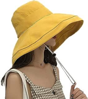 MOKIE Women Wide Brim Sun Hats Foldable UPF 50+ Sun Protective Bucket Hat