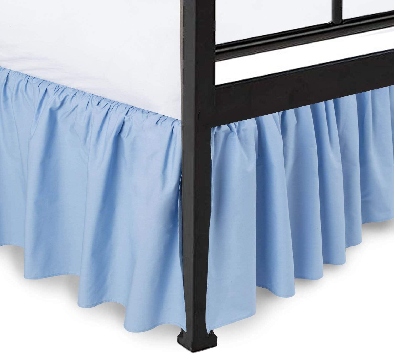 Split Corners Super sale period limited Dust Ruffled Bed Skirt Sided C Three Popular popular Platform with