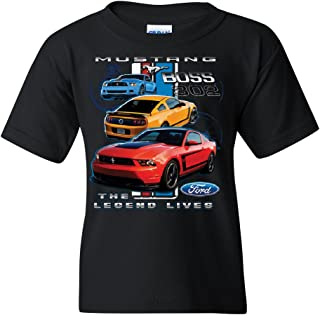 Ford Mustang The Legend Lives Youth T-Shirt Licensed Ford Design Tee