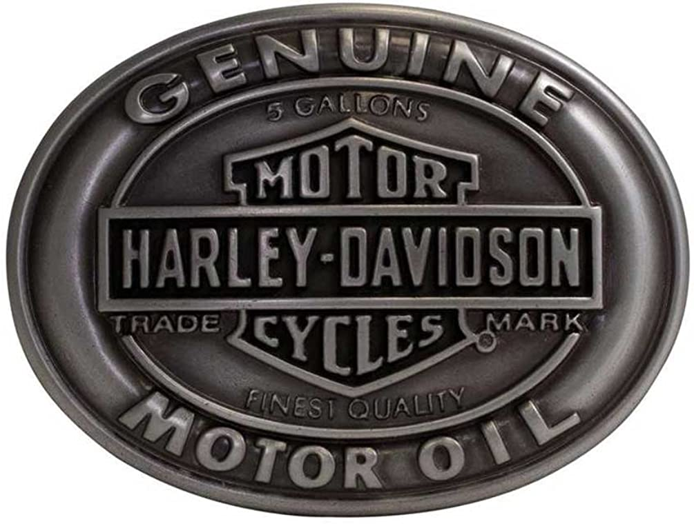 Harley-Davidson Men's Spasm price Belt Nashville-Davidson Mall Buckle Genuine Oil Motor Shield Bar