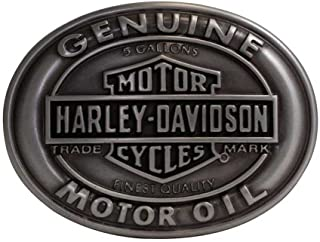 Harley-Davidson Mens Genuine Motor Oil B&S Buckle