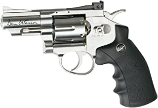 ASG Dan Wesson CO2 Powered Pellet Air-Revolver, Silver, 2.5