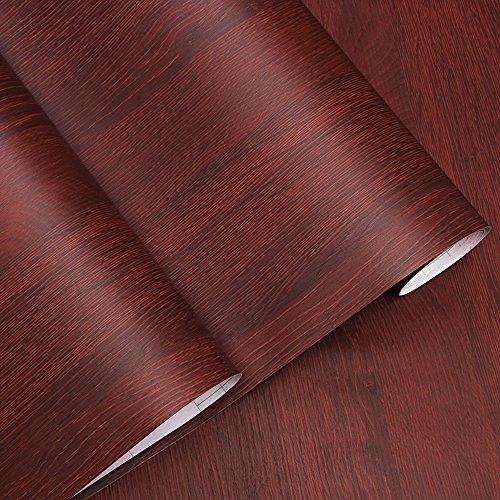 Decorativa sintética grano de madera papel de contacto vinilo autoadhesivo para maletero para cuarto de baño gabinetes de cocina estantes de cajón mesa artes y manualidades para 60 x 300 cm