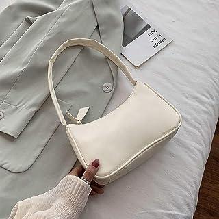 Zhangpu Unterarmtasche für Damen im Retro-Stil, Schleife, Handtasche, PU-Leder, Tasche mit Griff oben Taschen mit Tragegriff