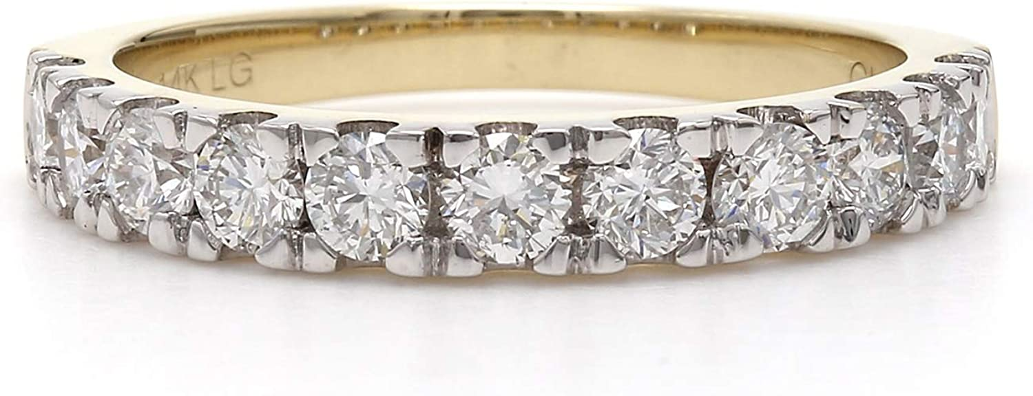 14k 40% OFF Cheap Directly managed store Sale Yellow Gold Lab-Grown Diamond Wedding Band 1 2 Ring cttw