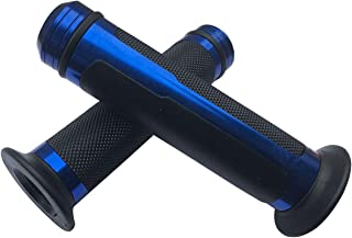 """MotorToGo Blue Aluminum 7/8"""" handlebar gel grips with caps for 2010 Triumph Tiger 1050 ABS"""