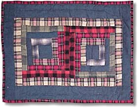 Patch Magic 19-Inch by 13-Inch Red Log Cabin Place Mat