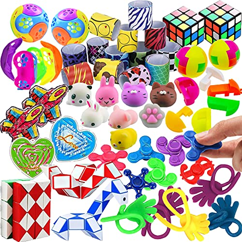 43 Pack Party Favors For Kids, School Classroom Rewards, Treasure Box Toys Carnival Prizes, Pinata Filler Goodie Bag Stuffers