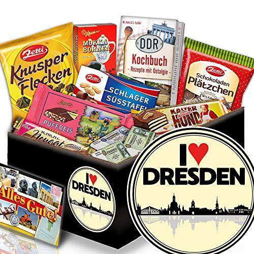 I love Dresden + Geschenkbox I love Dresden + DDR Schoko Korb
