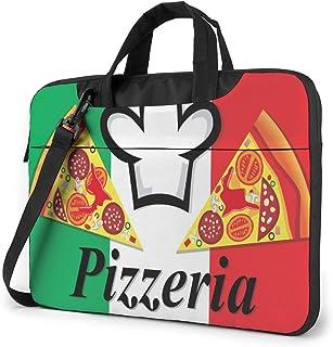 """Pizzeria Label Laptop Bag Protective Case Computer Messenger Briefcase Women Men 13"""""""