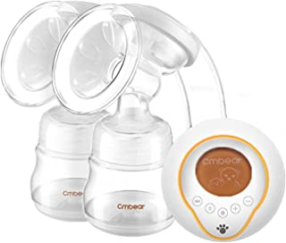 Electric Breast Pump Double Automatic Massage Portable Breast Feeding Pump Milk Suckers Pain Free USB Rechargeable Cmbear