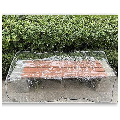 ZHANGQINGXIU Lonas Impermeables Exterior,Cubierta Transparente Para Muebles De Jardín, Lona Impermeable De PVC Resistente, Película Suave Resistente A La Intemperie De 0,3 Mm Con Ojales, 42 Tamaños