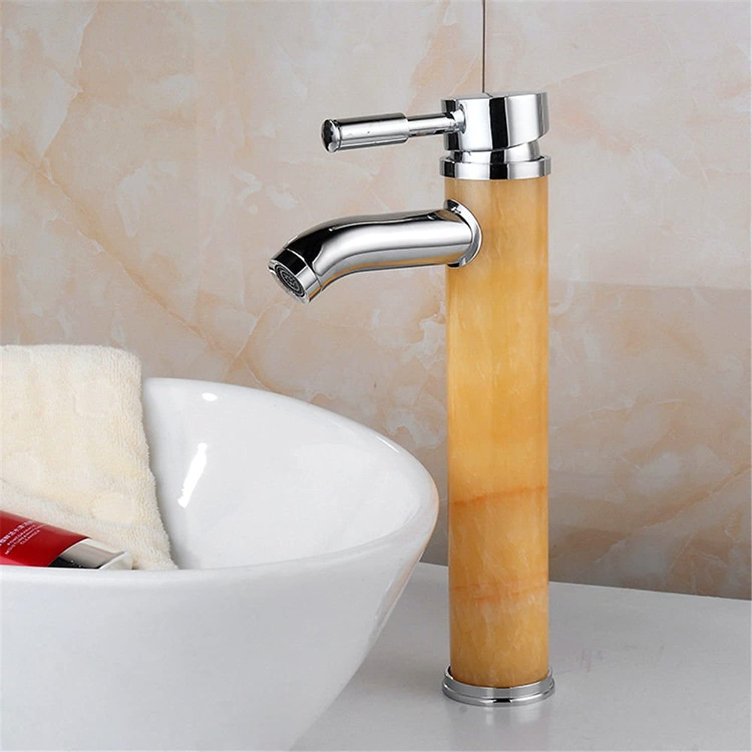 Lalaky Taps Faucet Kitchen Mixer Sink Waterfall Bathroom Mixer Basin Mixer Tap for Kitchen Bathroom and Washroom Chrome-Plated greenical