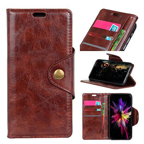 cuzz Wallet Case voor Huawei Enjoy 7/Y6 Pro 2017/P9 lite mini, met [ Tempered Glass Screen Protector] echte Retro Vintage lederen portemonnee Flip Cover portemonnee standaard met [Card Slots] Case
