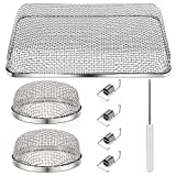 SYNTOUR RV Flying Insect Screen for Vents Stainless Steel Mesh RV Furnace Vent Cover Camper Heater Exhaust Screen Cover with Installation Tool (3 Pack)