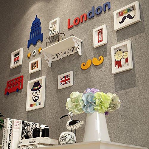 Creatief wandpaneel voor de woonkamer, woonkamer of nachtkastje. Alle wanddecoraties - wit + slijtvast rubber blauw d