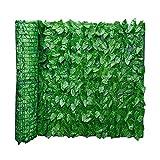 Valla de hiedra artificial para jardín, valla y hojas de imitación para decoración al aire libre, jardín, 0,5 x 1 m