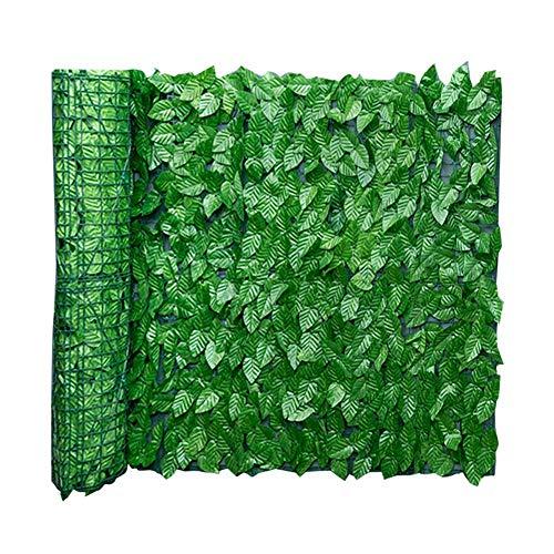Künstliche Efeu Garten Sichtschutz, künstliche Hecken Zaun und Faux Ivy Vine Leaf Dekoration für Outdoor-Dekor, Garten, 0.5x1m