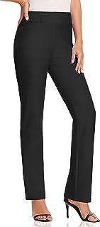 V VOCNI Women's Relaxed Boot-Cut Stretch Office Work Pants Dress Slacks