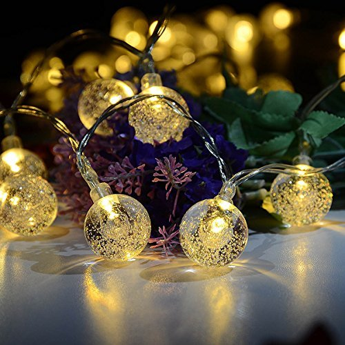 Outdoor Fairy Lights / Deallink 40 LED String Lights with Battery Powered / Crystal Ball Bulbs for Room, Garden, Lawn, Party, Wedding, Christmas Decoration / Warm White