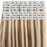 Extensiones Adhesivas de Cabello Natural 100% Remy humano extensiones de pelo 40 piezas - 100g...