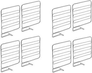 mDesign Juego de 8 separadores metálicos para organizar armarios y estanterías – Prácticos divisores de estantes y repisas...
