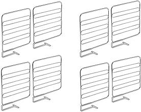 mDesign Versatile Metal Wire Closet Shelf Divider and Separator for Storage and Organization in Bedroom, Bathroom, Kitchen...