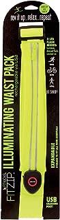 FitKicks FITZIP Illuminating Waist Pack Running Belt - Rechargable LED Nighttime Neon