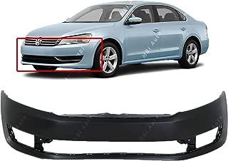 MBI AUTO - Primered, Front Bumper Cover Fascia for 2012-2015 Volkswagen VW Passat 12-15, VW1000199