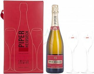 Piper-Heidsieck Champagne CUVÉE BRUT in Geschenkbox mit 2 Gläsern 12,00% 0,75 lt.