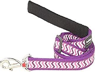 Red Dingo Reflective Ziggy Dog Lead, Medium-Large, Purple