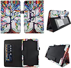 Lovely Tree NuVision 8 Inch Tablet Case Premium Pu Leather Folio Cover w Stylus Holder for 2016 NuVision TM800W560L 2017 TM800W610L TM800P610L 8 Inch Windows Tablet Stylus Holder ID Slots