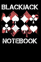 Blackjack Notebook: Blank Lined Journal with Basic Strategy Card